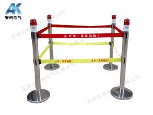 報警式不銹鋼伸縮圍欄 警示帶圍欄