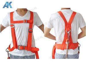 红色双背双保险安全带