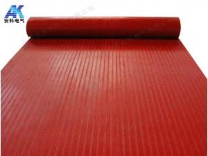 变电站绝缘胶垫 8mm红色绝缘胶垫 防滑绝缘胶板